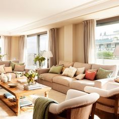 What a Love Beige Color For Your Living Room Ideas Cozy Living Rooms, New Living Room, Living Room Sofa, Home And Living, Living Room Decor, Bright Apartment, Beige Sofa, Dream Rooms, Living Room Inspiration