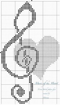 heartbeat is like music! (For PDF version contact me Please) With love. MorenaEach heartbeat is like music! (For PDF version contact me Please) With love. Cross Stitch Letter Patterns, Cross Stitch Music, Cross Stitch Letters, Cross Stitch Bookmarks, Cross Stitch Heart, Simple Cross Stitch, Cross Stitch Designs, Filet Crochet Charts, Knitting Charts