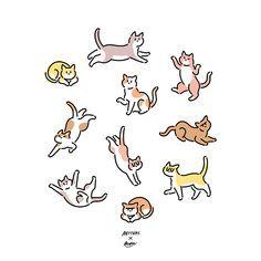 2016년작_Betters X Koke - 영상/모션그래픽 · 일러스트레이션, 영상/모션그래픽, 일러스트레이션, 디지털 아트, 일러스트레이션 Cat Tat, Shrinky Dinks, Good Energy, Animal Drawings, Wall Collage, Art Reference, Dog Cat, Illustration Art, Printables