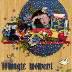 Digital Scrapbook Layout using #believeinmagic: Fair Beauty by Studio Flergs and Amber Shaw