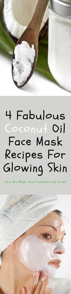 Coconut oil is remarkable natural oil that is loaded with nutrients which are incredibly beneficial for skin care. This natural oil has the ability to nourish, moisturize and protect the skin. Beauty Secrets, Diy Beauty, Beauty Hacks, Beauty Box, Natural Life, Au Natural, Mask For Dry Skin, Glowing Skin, Healthy Skin