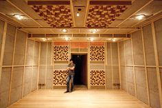 When Matthew Gray is mastering in his new studio, he'll hear a different room to what his speakers do. News Studio, Home Studio, Studio Ideas, Studio Build, Garage Studio, Acoustic Diffuser, Acoustic Design, Recording Studio Design, Sound Proofing