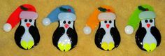 Fused Glass Christmas Penguin Ornament