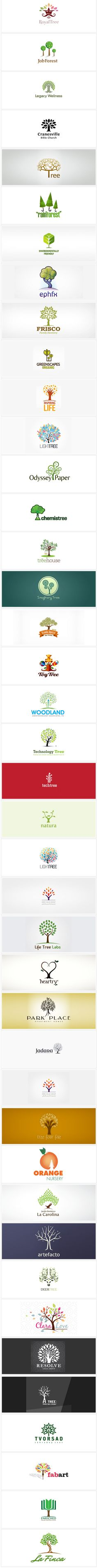 40 Creative Tree Logo Design examples for your inspiration