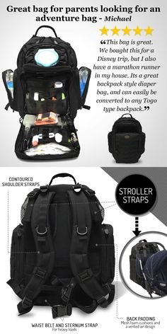 A diaper bag or nappy bag is a storage bag with many pocket-like spaces that is big enough to carry everything needed by someone taking care of a baby while taking a typical short outing. Funny New Dad Gifts, First Time Dad Gifts, Best Dad Gifts, Gifts For New Dads, Daddy Diaper Bags, Best Diaper Bag, Baby Bottle Set, Diaper Bag Essentials, Swag
