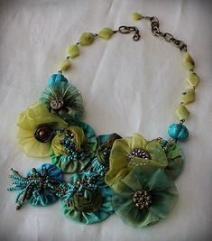 ORINOCO FLOW Turquoise Teal Green Mixed Media ♥ by carlafoxdesign, $295.00