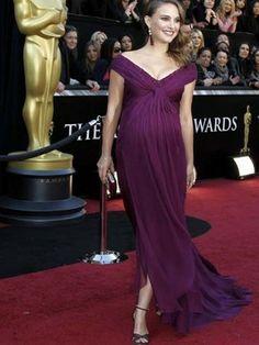 Natalie Portman en los Oscar Looks embarazadas www.babycoming.com.ar