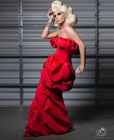 """Trinity """"The Tuck"""" Taylor Drag Queens, Amazing Red, Amazing Women, Trinity Taylor, Drag Wigs, Rupaul Drag Queen, Tuck Dress, Pink Wig, Bridesmaid Dresses"""