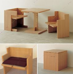 Dining Cube w/ table and 2 chairs breaks down to regular cube. Has enough space inside for blanket, placemat or cushion storage...costs $820 at Dinos but with the right tools and a couple free weekends I can make this myself.
