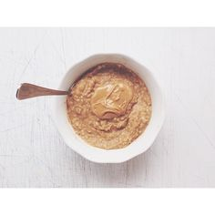 Guess who opened up a brand new can of pumpkin purée this morning  I've been running around like a madman all morning, so this is really more like brunch before class. These are pumpkin pie oats, recipe is a few posts back! #Padgram