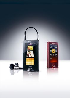 """••WALKMAN 11••2009 – the original portable music device by Sony 1979-07-01 ($150) to 2010-10-25; invented by engineer Kihara; 220M units sold in 31 years vs iPod 2001-11-10 320M+ in 11 years! • wiki Walkman: http://en.wikipedia.org/wiki/Walkman •  article by Verge 2014-07 • depicted: Walkman 11 """"NW-X1060"""" 2009 CES - Sony 2nd flummoxed attempt to compete w/ Apple, here $400 iPod Touch launched 2007-09-05 http://en.wikipedia.org/wiki/Ipod_touch"""