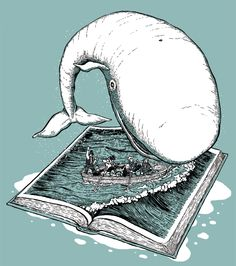 'Thar She Blows' - an illustration inspired by Herman Merville's classic novel 'Moby Dick'. Mat Pringle