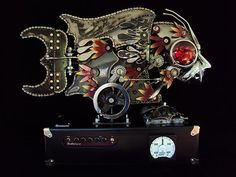 chris cole sculpture   Chris Cole : Velouria (a kinetic sculpture with a guitar amp hidden in ...