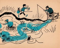Six Foolish Fishermen by Benjamin Elkin, illustrated by Bernice Myers (1968).