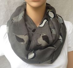 big voile navy stripe and anchor women scarf by YIER on Etsy