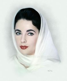 Elizabeth Taylor by Ebn Misr Hollywood Icons, Old Hollywood Glamour, Golden Age Of Hollywood, Vintage Hollywood, Hollywood Stars, Hollywood Actresses, Classic Hollywood, Hollywood Makeup, Elizabeth Taylor Eyes