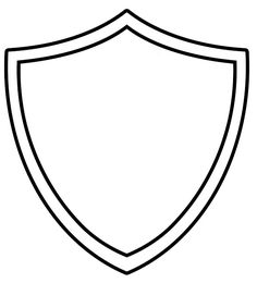 Shield pattern. Use the printable outline for crafts