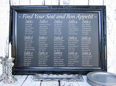 """Large BLACK FRAMED CHALKBOARD - ExTrA LaRgE - Wedding Chalkboard Chalk board Menu Board Large Gold White 44""""x32"""" Gothic Wedding Sign Baroque. $239.00, via Etsy."""