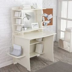 Legare White Writing Desk with HutchOverall dimensions: 46W x 27D x 54H inches for 199