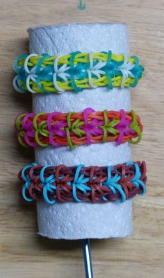 "Rainbow Loom Bracelet - Original Design - ""SEGMENTAL"" (ref # 3Pi)"