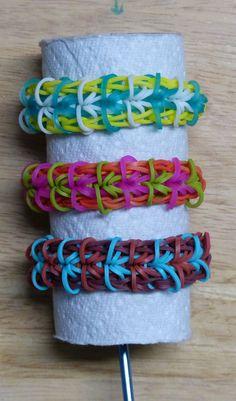 "Rainbow Loom Bracelet - Original Design - ""SEGMENTAL"" (ref # 3Pi)"
