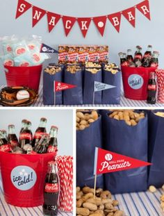 Ball Park theme birthday party