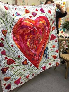 Beautiful! Heart quilt is just gorgeous!