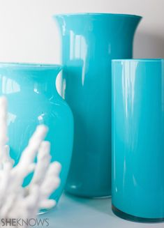 Make your own decorative vases with some Dollar Store vases and PermEnamel paint!