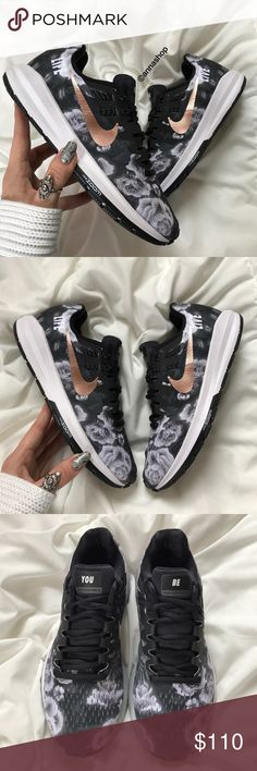 hot sale online 259bb f4781 NWT Nike ID rose gold swoosh floral Brand new no box!custom made Nike  ID!price is firm!Always there to support you, the Nike Air Zoom Structure  20 Women s ...