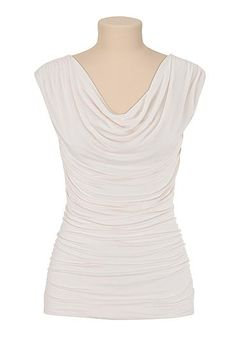 Neutral sleeveless drape neck top (original price, $24) available at #Maurices