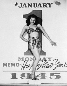 Day one of a New Year. We love that new beginning feeling. The slate is wiped clean and anything can happen.  Yvonne DeCarlo 1945