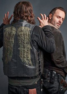Norman Reedus and Andrew Lincoln photographed by Jeff Lipsky for TV Guide Magazine