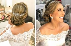 Ideas Simple Bridal Veil Style For 2019 Cool Short Hairstyles, Wedding Hairstyles With Veil, Bride Hairstyles, Blonde Layered Hair, Dark Blonde Hair, Bridal Hair Updo, Bridal Hair And Makeup, Medium Hair Styles For Women, Long Hair Styles