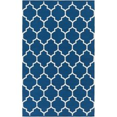 Vogue Claire Blue and White Rectangular: 9 Ft x 12 Ft Rug - (In Rectangular)