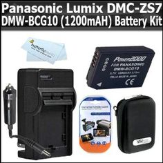 Click Here http://gadget-core.com/bestseller.php?p=B004BFC24C For Best Price and Cheap Battery Kit For Panasonic Lumix DMC-ZS7 DMC-ZS10, DMC-ZS8, DMC-ZS9, DMC-3D1 Digital Camera Includes Extended Replacement Panasonic DMW-BCG10 (1200 mAH) Lithium-Ion Battery + AC/DC Travel Charger + Hard Shell Case + Screen Protectors + MicroFiber Cloth (Electronics) Best Seller and Best Buy click image to review :D
