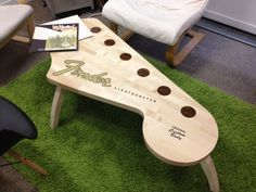 Fender Guitar Headstock Coffee Table: The Rockin Out Furniture