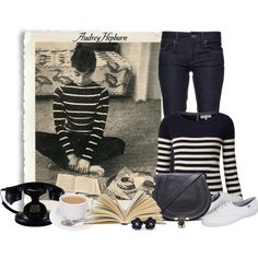 """Audrey Hepburn Style"" by ameve on Polyvore"
