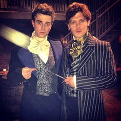 "#TheOriginals Nathaniel Buzolic & Joseph Morgan in period garb for ""Alive & Kicking"""