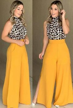 Palazzo Pants Outfit For Work. 14 Budget Palazzo Pant Outfits for Work You Should Try. Palazzo pants for fall casual and boho print. Look Fashion, Fashion Pants, Hijab Fashion, Fashion Outfits, Womens Fashion, Classy Outfits, Chic Outfits, Trendy Outfits, African Fashion Dresses