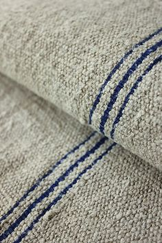 Antique European grain sack hemp fabric ~ ideal for upholstery