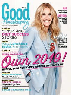 The new issue of Good Housekeeping, with the fabulous Julia Roberts on the cover, is on sale now! Capsule Wardrobe Work, Smoothie Diet, Smoothies, Care Plans, Julia Roberts, Good Housekeeping, Healthy Living Tips, Loose Weight, Slimming World