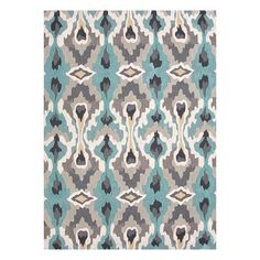 Blue, Gray & Tan Rug. I can't stop staring  @Katiekemerling