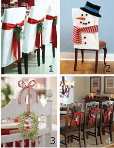 Vestimenta sillas para Navidad. Imagen de Facebook Reciclagem , Jardinagem e Decoração.. https://www.facebook.com/photo.php?fbid=501722619954027&set=a.205028352956790.42952.149469411846018&type=1&theater