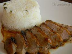 Pikantní voňavá kachní prsa Ham, Grains, Food And Drink, Rice, Lunch, Chicken, Cooking, Foods, Detail