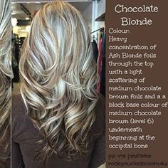 chocolate blonde hair - Google Search