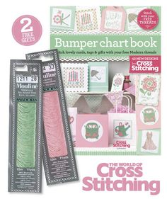 FREE STITCH GIFTS - This month's free gifts with issue 229 of The World of Cross Stitching magazine are a fabulous stitchers set. TWO thread packs of pretty Madeira stranded cottons, plus a Chartbook, full of designs to use with your threads. (Free with print edition only)