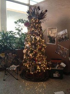 The Christmas tress at the office