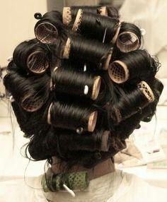 Wet Style, Hair Curlers Rollers, Hair Setting, Roller Set, Vintage Glamour, Perm, Curls, Hair Beauty, Dreadlocks