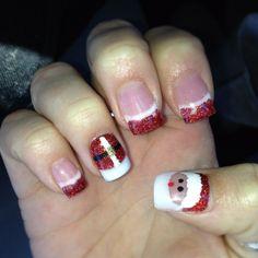 christmas+acrylic+nails+designs | Christmas Santa acrylic nail design | Nail Art