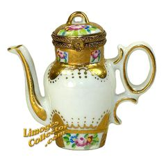 SEVRES GOLD COFFEE POT LIMOGES BOX (ROCHARD)